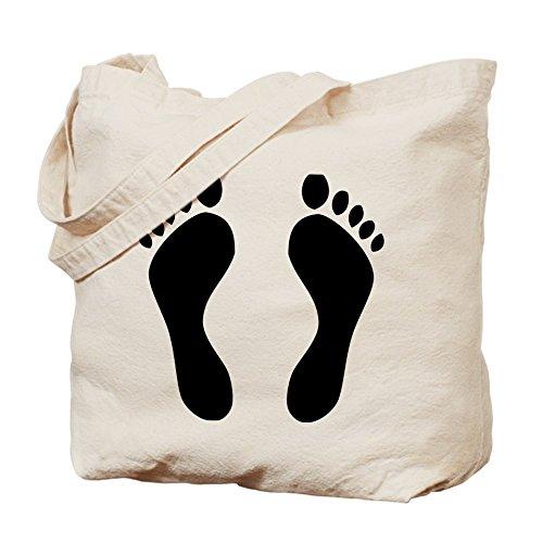 CafePress–Huellas pies descalzos–Gamuza de bolsa de lona bolsa, bolsa de la compra