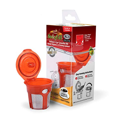 Solofill K3 Plus Compatible with: Keurig K-Elite Single Serve Coffee Maker - All 1st Generation Keurig K-Cup Brewing & 2.0 Brewring - Solofill Cup
