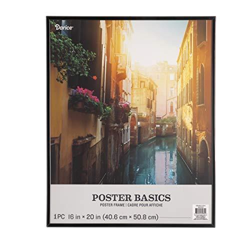 Darice Basics Black, Plastic, 16 x 20 Inches Poster Frame,