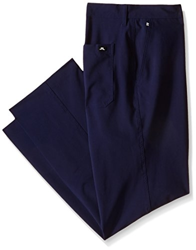 J.Lindeberg Men's M Troon Pts Micro Stretch Golf Pant, Navy/Purple, 32/32