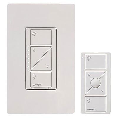 Echo Dot + Caseta Wireless Deluxe Smart Lighting Control Kit