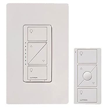 Lutron Caseta Wireless Smart Lighting Dimmer Switch and Remote Kit for Wall & Ceiling Lights, P-PKG1W-WH, White, Works with Alexa, Apple HomeKit, and the Google Assistant