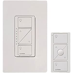 Lutron Caseta Wireless Smart Lighting Dimmer Switch and Remote Kit for Wall & Ceiling Lights,