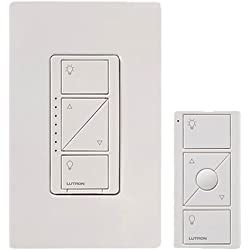 1 of Lutron Caseta Wireless Smart Lighting Dimmer Switch and Remote Kit for Wall & Ceiling Lights, P-PKG1W-WH, White, Works with Alexa, Apple HomeKit, ...