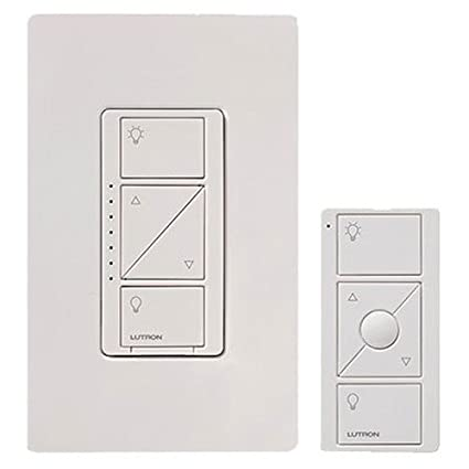 Lutron Caseta Wireless Smart Lighting Dimmer Switch and Remote Kit on