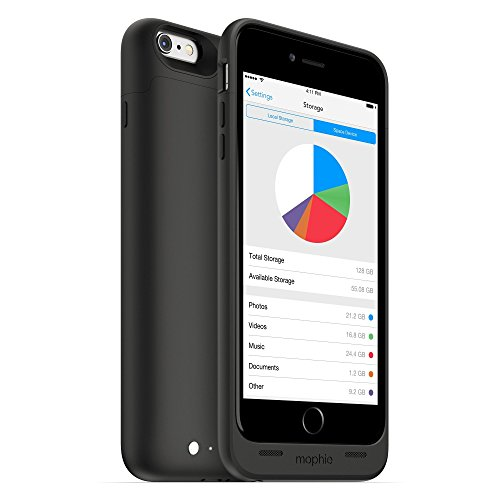 mophie spacepack with built-in 32GB storage for iPhone 6 Plus/6s Plus (2,600mAh)...