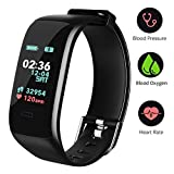 Fitness Tracker, Color Screen Activity Tracker Watch with Blood Pressure Blood Oxygen, IP67