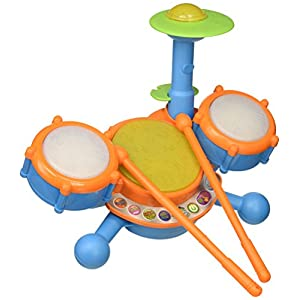 41s8wcdz7qL. SS300  - VTech KidiBeats Kids Drum Set, Orange