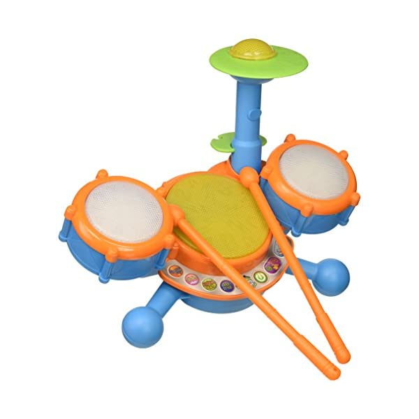 41s8wcdz7qL. SS600  - VTech KidiBeats Kids Drum Set, Orange