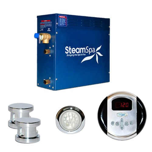 Steam Spa IN1050CHC Indulgence Complete Package with 10.5kW Steam Generator, Chrome