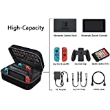 ElementDigital Nintendo Switch System Carrying Case, EVA Hard Carrying Case for the Complete Nintendo Switch System (Black)