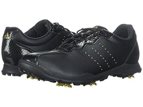 リーン平均浅い(アディダス) adidas レディースゴルフシューズ?靴 Adipure DC Core Black/Gold Metallic/Core Black 7 (24cm) M