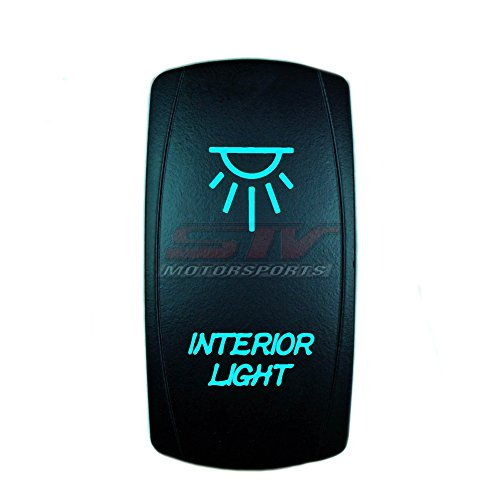 STV Motorsports Laser Blue Rocker Switch INTERIOR LIGHTS 20A 12V On/Off LED Lights