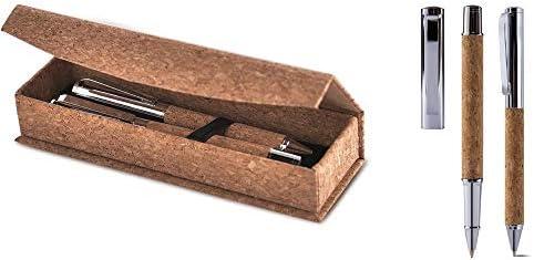 Juego de escritura de corcho bolígrafo + bolígrafo roller en estuche: Amazon.es: Bricolaje y herramientas