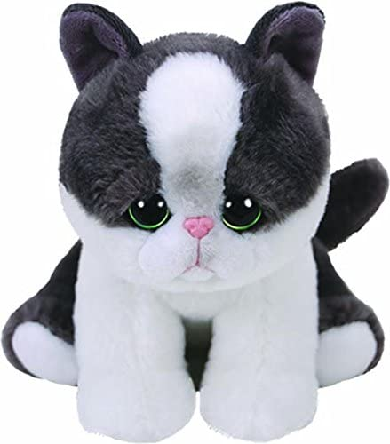 Ty Beanie Babies YANG Black//white Cat reg 6 Regular