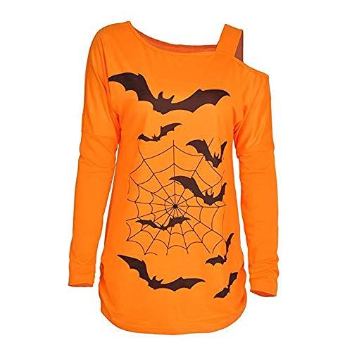 CGKUITER Halloween Costume Shirt Women's Casual Long