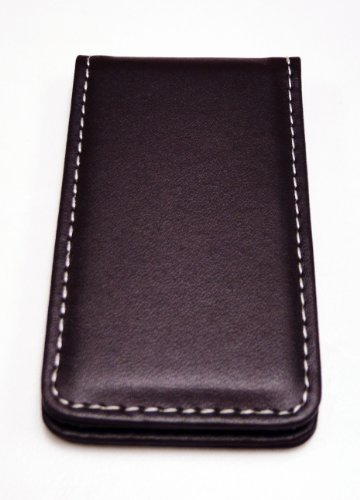 Fine Leather Magnetic Money Clip - Brown