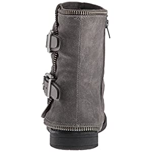 Not Rated Women's Who's Talkin Motorcycle Boot, Grey, 8 M US