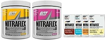 GAT Nitraflex 30svg Combo Pack W 4 Samples PineApple Watermelon