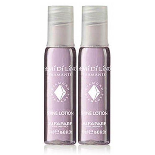 Semi Di Lino Shine Lotion (Alfaparf SEMi Di LiNO Diamante Illuminating Shine Lotion Leave In Treatment - 1 Pack (2 Vials))