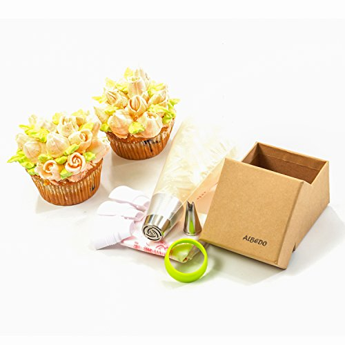 Large Disposable Cake Decorating Bags : Russian Piping Tips Set Reusable Cake Decorating Icing ...