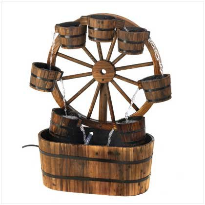 Furniture Creations Country Old Fashioned Wagon Wheel Gar...