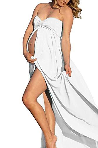 lace split dress - 1
