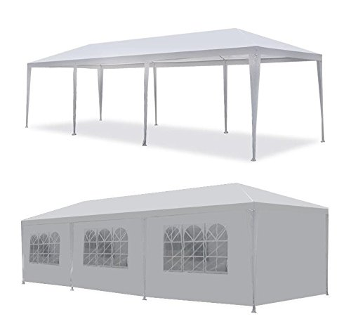 MCombo White Canopy Party Outdoor Wedding Tent Canopy Removable Walls (1030Ft-8PC) by MCombo