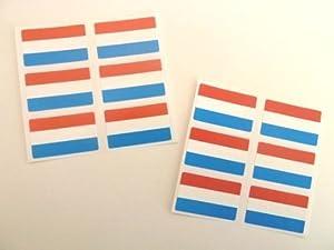 FR142 Self-Adhesive Iceland Flag Labels Mini Sticker Pack