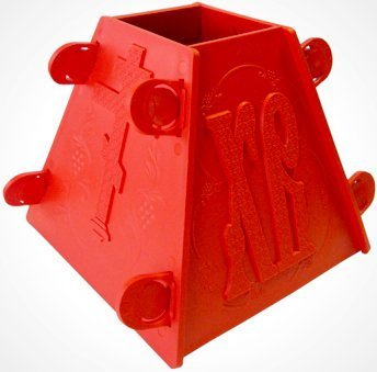 Red Russian Pascha Easter Xb Plastic Cheese Mold 6 inch Width