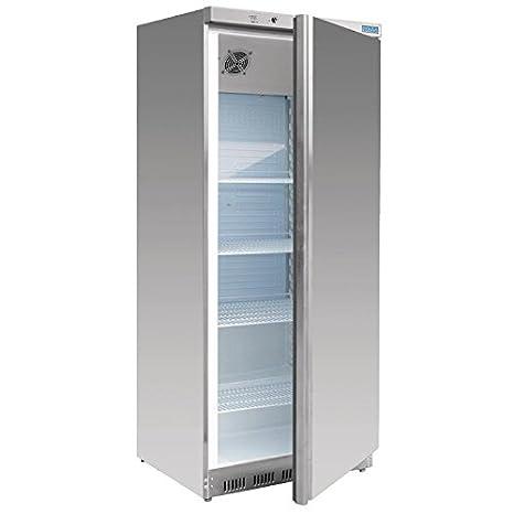 Polar Refrigerador de una sola puerta de acero inoxidable 600 ...