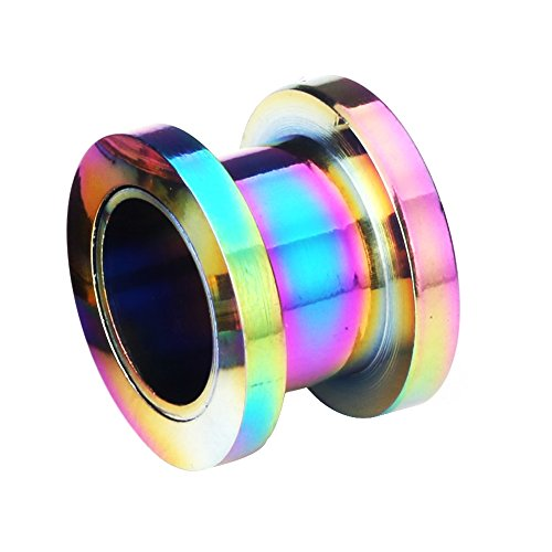 30MM Rainbow Anodized 316L Surgical Steel Ear Flesh Tunnel Body Jewelry