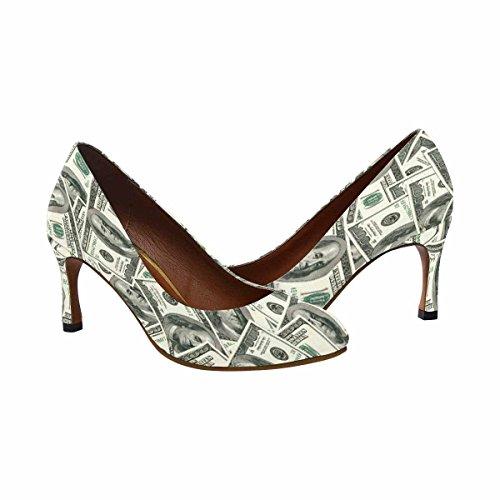 Robe De Robe De Talon Haut De La Mode Classique Des Femmes Dimpressionprint Billets De 100 Dollars