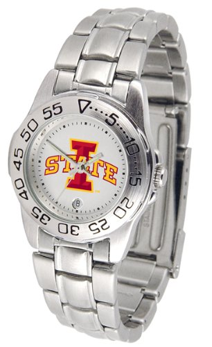 Iowa State Cyclones Ladies Watch - Iowa State Cyclones Gameday Sport Ladies' Watch with a Metal Band
