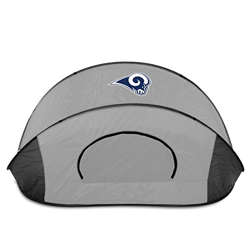NFL LA Rams Manta Portable Pop-Up Sun/Wind Shelter, Black/Gray by PICNIC TIME