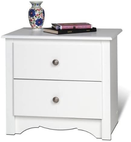 Night Stand 2 Drawer – Monterey White 23 1 4 W x 21 3 4 H x 16 D