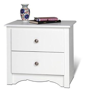 Night Stand 2 Drawer – Monterey White 23 1 4 W x 21 3 4 H x 16 D