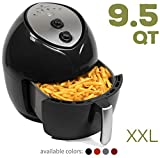 Paula Deen 9.5 QT (1700 Watt) Family-Sized Air Fryer with Rapid Air Circulation System, Single Basket System, Ceramic Non-Stick Coating, Simple Knob Controls, Timer with Automatic Shut-Off, 50 Air Fryer Recipes, 1-Year Warranty