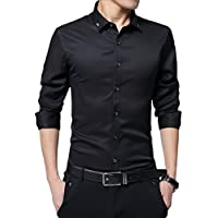 Taobian Mens Casual Long Sleeve Slim Fit Shirts Button Down Dress Shirts
