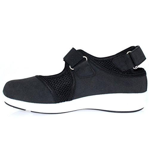 Para Negro Correa Sport Caminar Entrenadores Fit Jane Get De Mary Mujer Ligero Velcro blanco Separar wOxqp0R