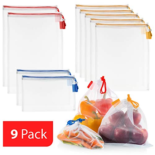 VANDOONA [9 Pack] Reusable Produce Bags Eco friendly Extra Strong
