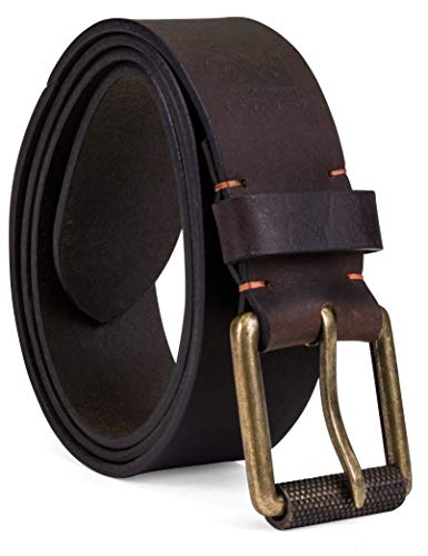 Timberland PRO Men's 40mm Workwear Leather Belt, dark brown/Roller buckley, 34