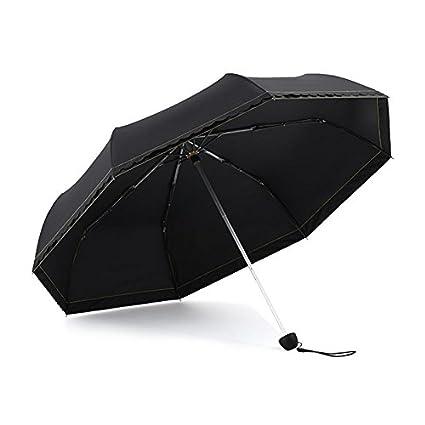 Paraguas plegable automatico Mujer niño Hombre an- Tres sombrillas Plegables Protección UV súper Fuerte -