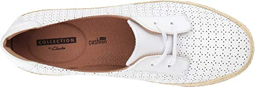 Clarks B Leather White Danelly Millie 8 Women's Us rqxwZzSnra