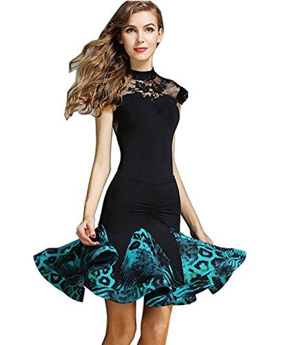 skirt Latin Green dress dance Waltz dress Ballroom modern dress National dress dance 5wAwqr1U