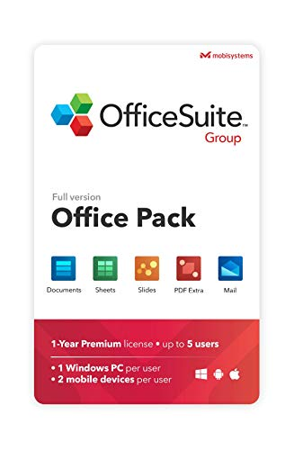 OfficeSuite Group Compatible with Microsoft® Office Word Excel & PowerPoint® and Adobe...