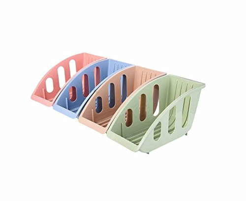ABTP Set of 4 Plastic Dish Drying Rack Plate Storage Holder