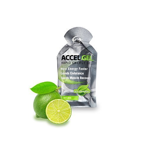 PacificHealth Accel Gel, All Natural Rapid Energy Gel - Box of 24, 1.3 Ounce Packets (Key Lime)