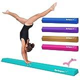 Springee 6ft Balance Beam - Extra Firm - Vinyl Folding Gymnastics Beam for Home (Teal)