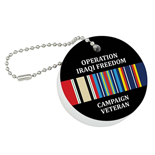 - Graphics and More Marines Operation Iraqi Freedom Campaign Veteran Ribbon OIF Officially Licensed Round Floating Foam Fishing Boat Buoy Key Float Keychain